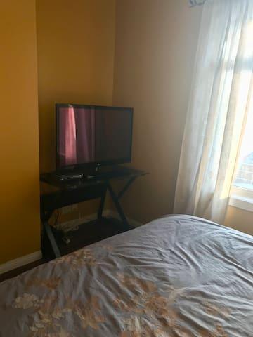 Private tv in bedroom