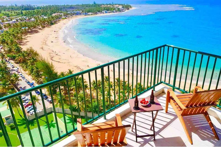 Incredible ocean views from beachfront corner unit