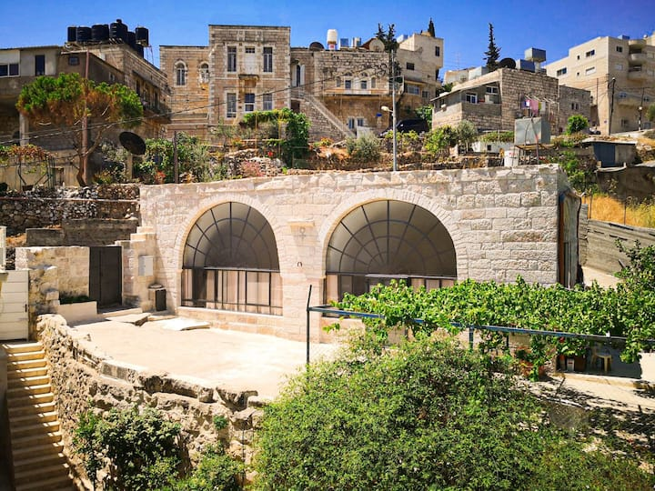 1800s Cross-Vault Stone House in Beit Jala