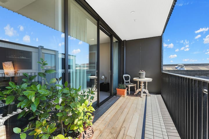 Sun drenched balcony