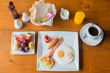 choice of breakfast  ( asian,american,continenal ) available at reception for 250 THB not include in room price