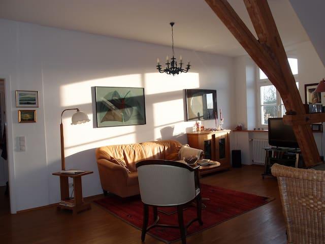 Ruhige Maisonette-Wohnung mit Dachterr. und Garage - Konstanz - Departamento
