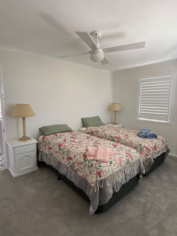 Two King size beds which can be converted to a King