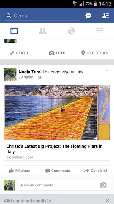 "CHRISTO "" THE FLOATING PIERS "" FROM 18/06/2016 TO 03/07/2016"