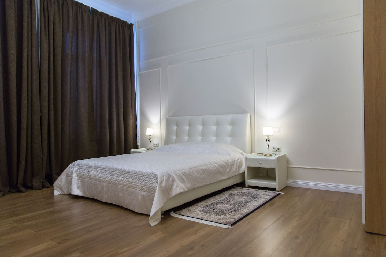 Master bedroom with master bathroom