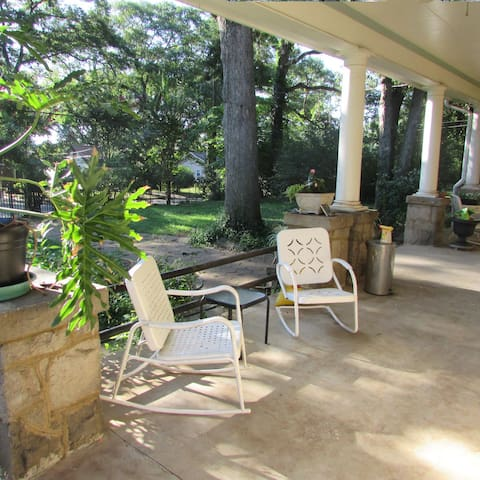 enjoy your morning coffee or tea on the spacious covered porch.