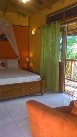 Chalet interior - bed