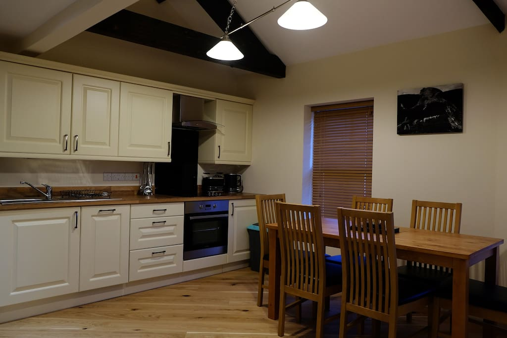The Cwtch modern Kitchen,  self catering apartment in Rhayader