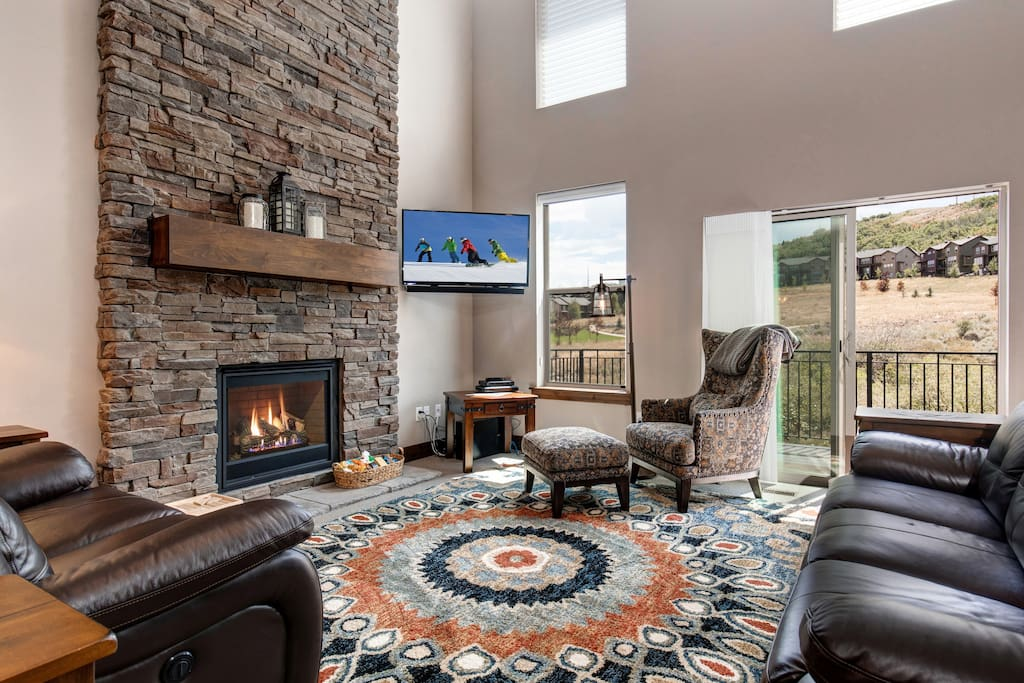 Great Space!  Main Living Area with Fire Place and TV.
