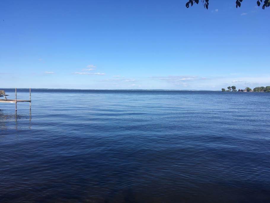 Lake Winnebago as pictured from yard.