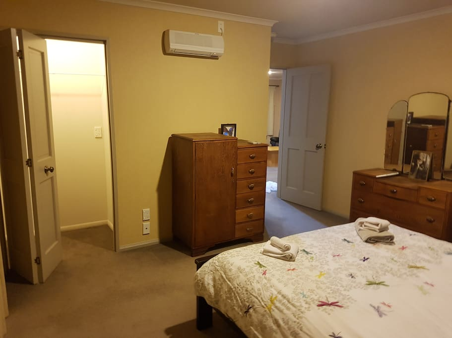 wardrobes and cupboards - air con and wall heater