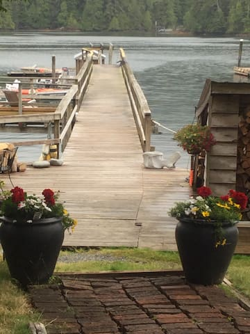 Kyuquot self service lodge in a fishing paradise.