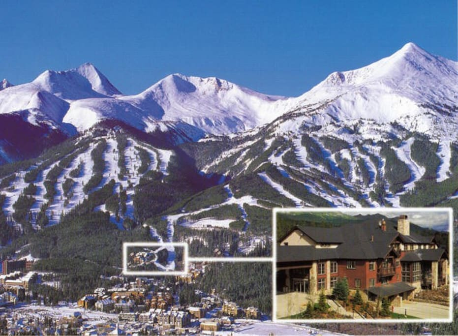 Location of our place at the base of Breckenridge Mountain