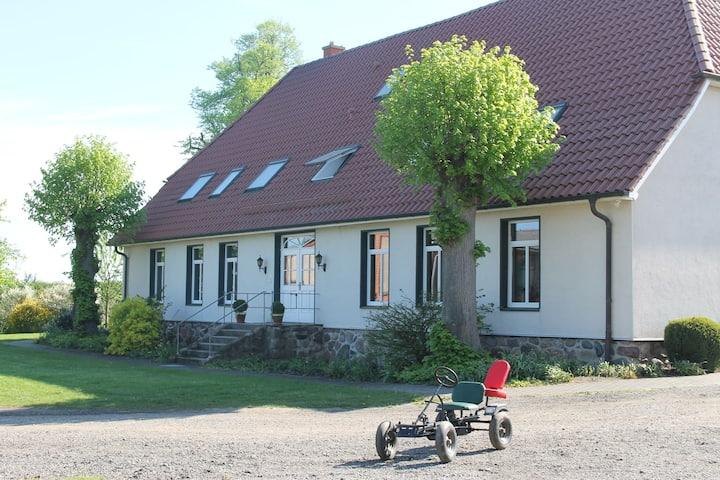 Farmhouse in Boiensdorf with Terrace, Garden and Sun-lounger
