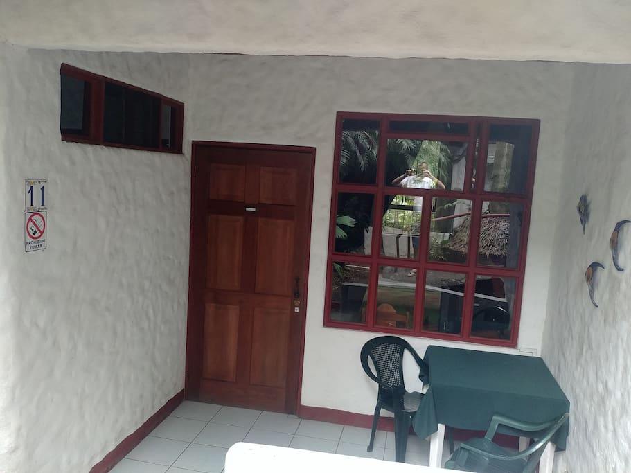 Entrance & Outdoor seatingh Area