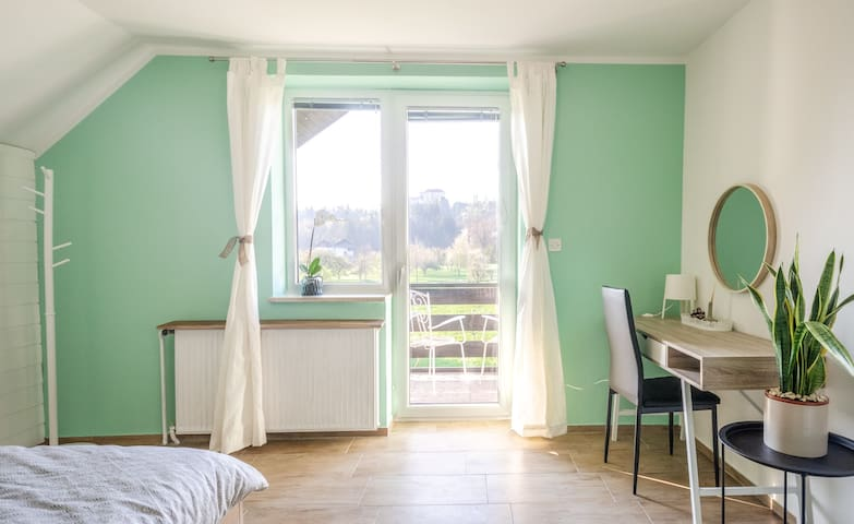 bedroom 2- door to balcony