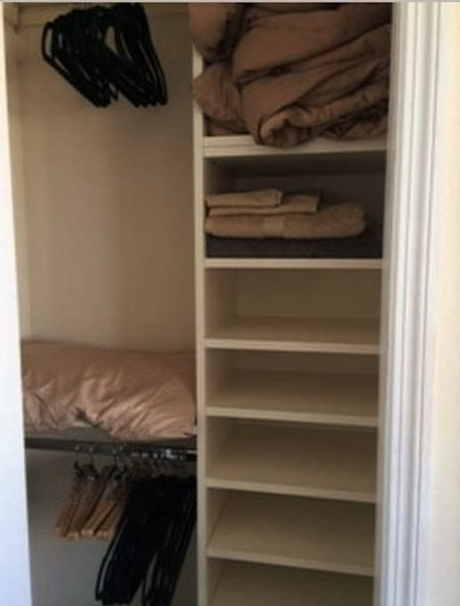 Closets are fully customized to maximize storage space.