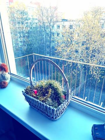 Чистая, уютная комната с балконом!