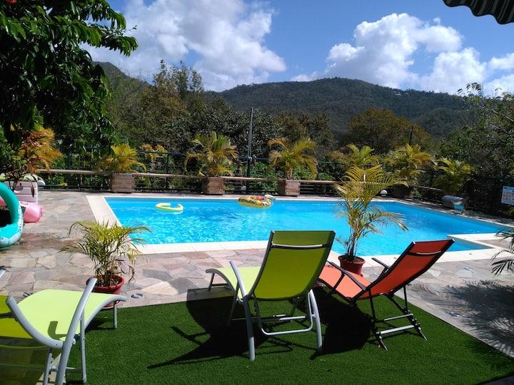 Villa tout confort avec piscine au rez-de-jardin