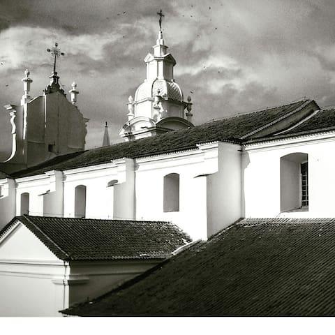 Quarto 01 - detalhe da igreja da Sé sacada