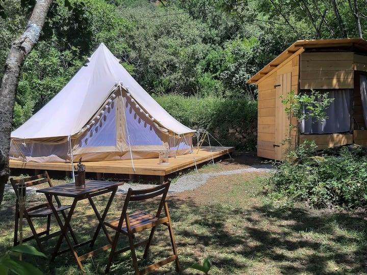 Hoopoe Glamping unique Bell Tent near Lake Skadar