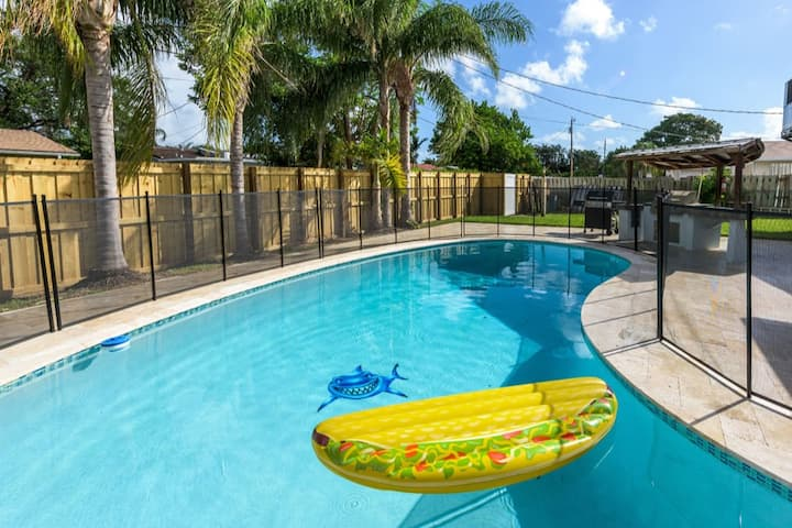 HOLLYWOOD'S TOP AREA🏝BBQ GRILL🔆4/2+POOL+BBQ+FLL
