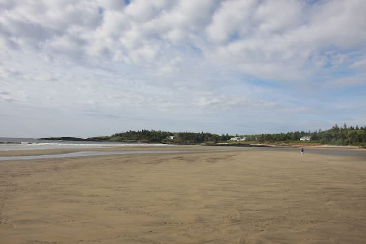 Summer house on beach (house pictured far right) - Phippsburg