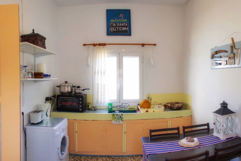 Kitchen - Fully self contained cooking and Dining - Forever Fotini Beach House
