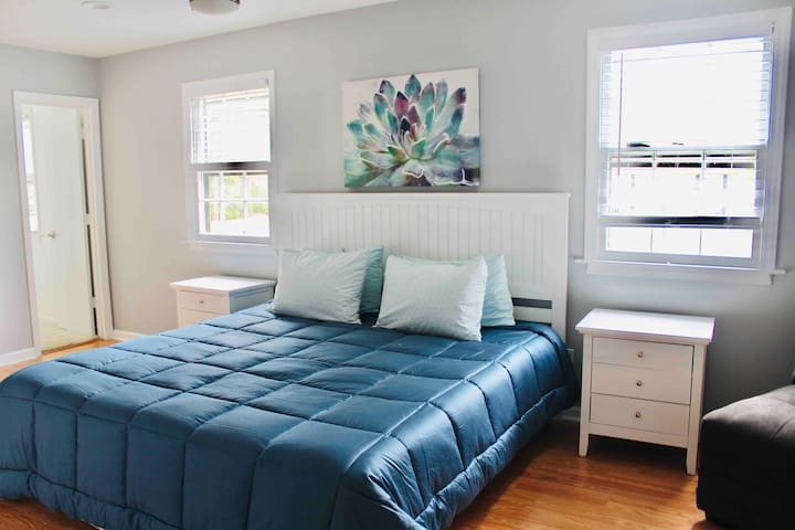 Master with King size bed,  bathroom and large walk in closet connected