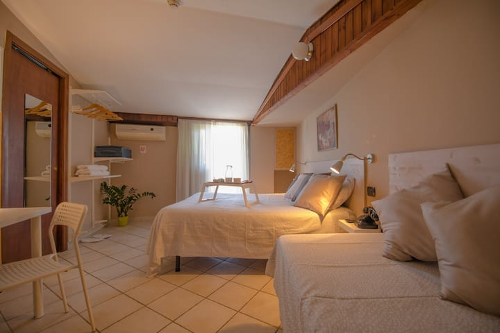 Triple room in villa with garden and parking