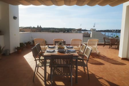 House & terrace in Old Town Porto Colom for 5-6