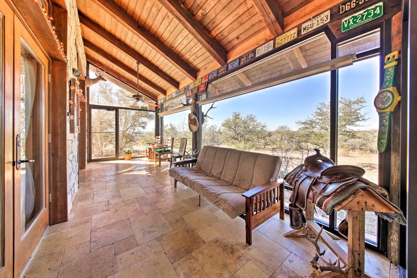 Stay in chic, Southwestern comfort at this 2-bed, 1-bath Wimberly home!