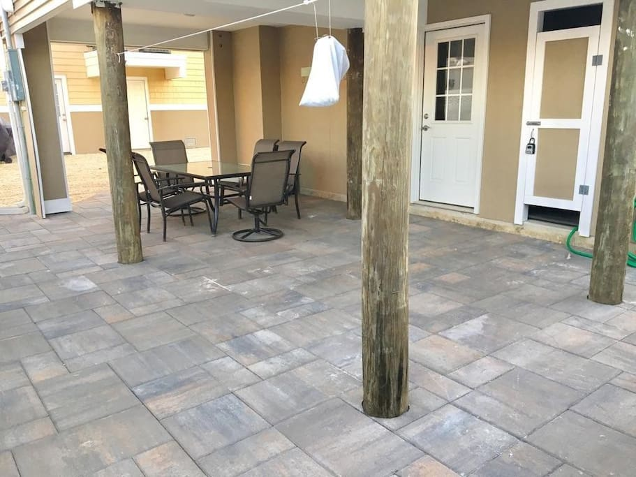 Ground floor patio
