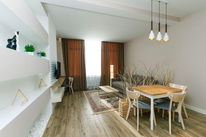 Светлая квартира на Гоголевской - Kijów - Apartament