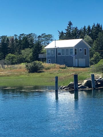 View of our house from the nearby River.