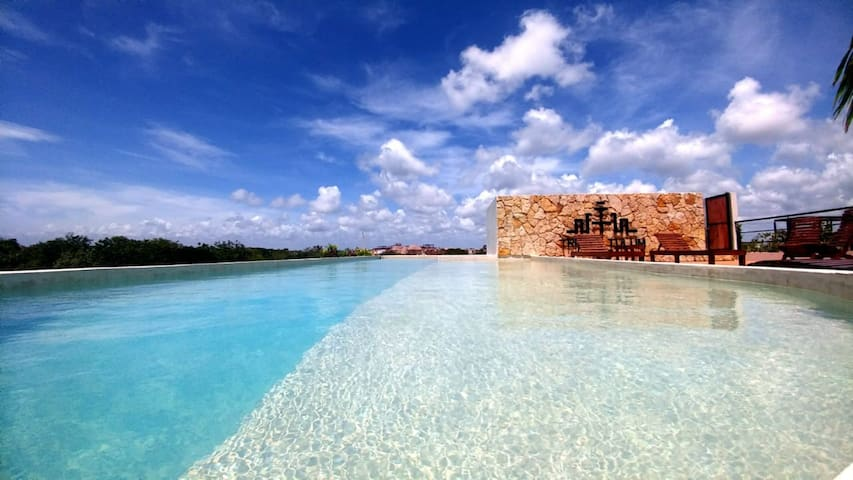 NEW Luxury Loft ! Pool ! Aldea Zama