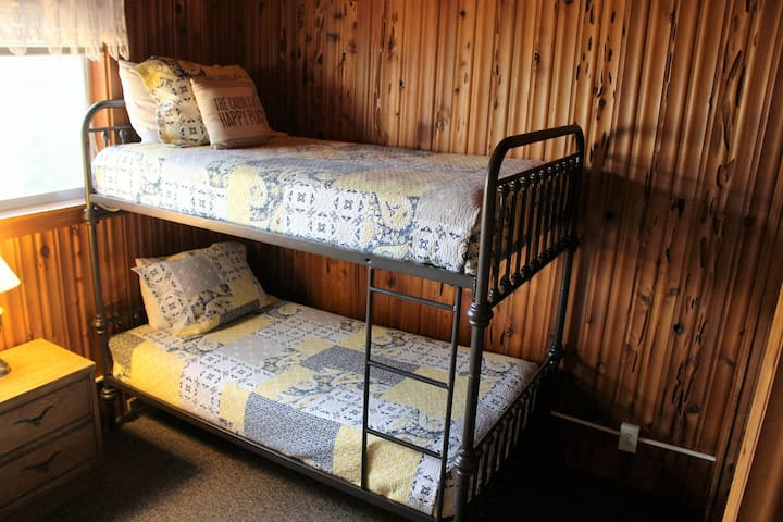 2nd Bedroom has an extra long double and bunk beds