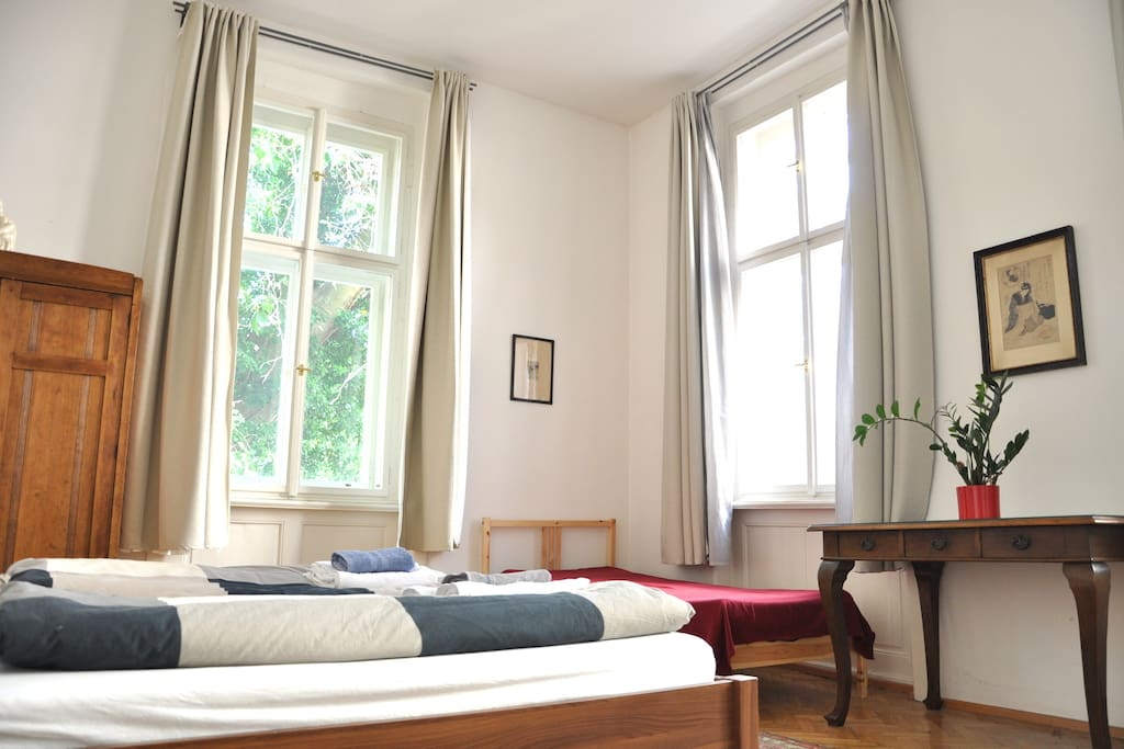 Comfortable living in baroque gem of Prague with terrace overseeing hidden garden. You will stay in large, well equipped flat, now with brand new espresso machine and summer seating at the terrace