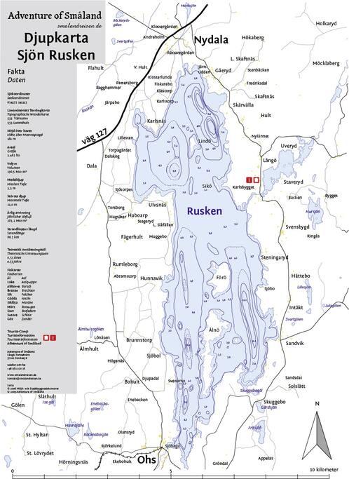 Tiefernkarte Ruskensee