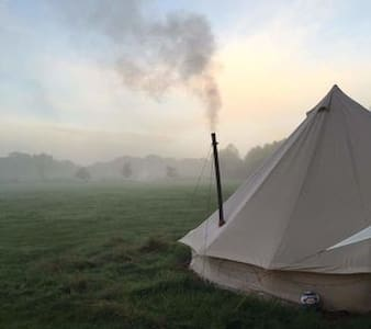 Bell Tent in Meadow near Tintagel, beautiful views - Cornwall - Tipi