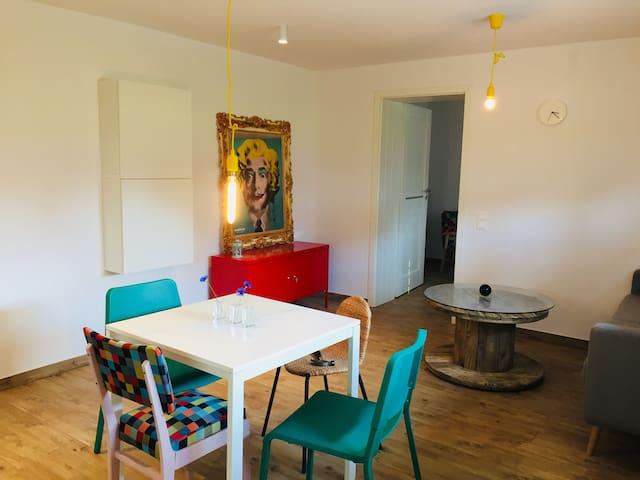 Salon z aneksem kuchennym  Living room with kitchenette
