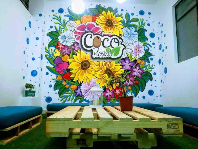 Coco Hostal, excelente ubicación, zonas comunes