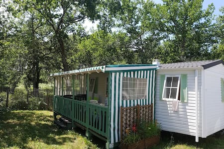 Mobile home between ocean and lakes