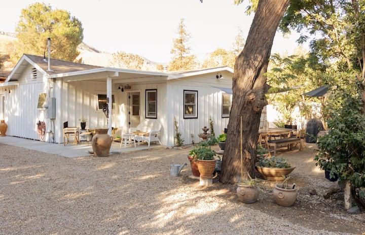Malibu trail farmhouse retreat.