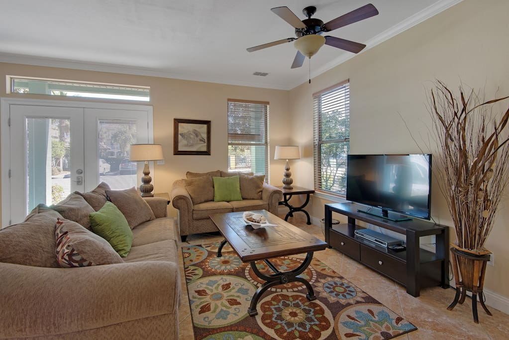 Comfy living room. Ideal home for 3 families. Another living room on 2nd floor