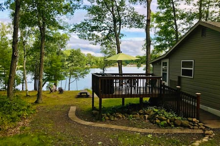 Panoramic Point on Long Lake with Sauna & Pontoon