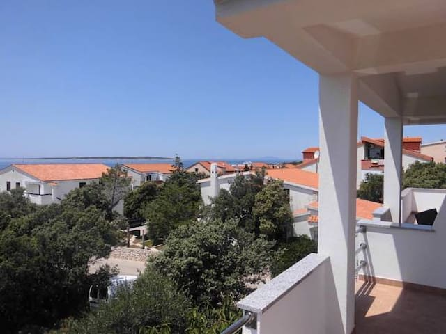 Apartment with a large terrace and stunning views - Mandre - Apartment