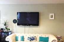 Huge Digital TV with amazon fire stick