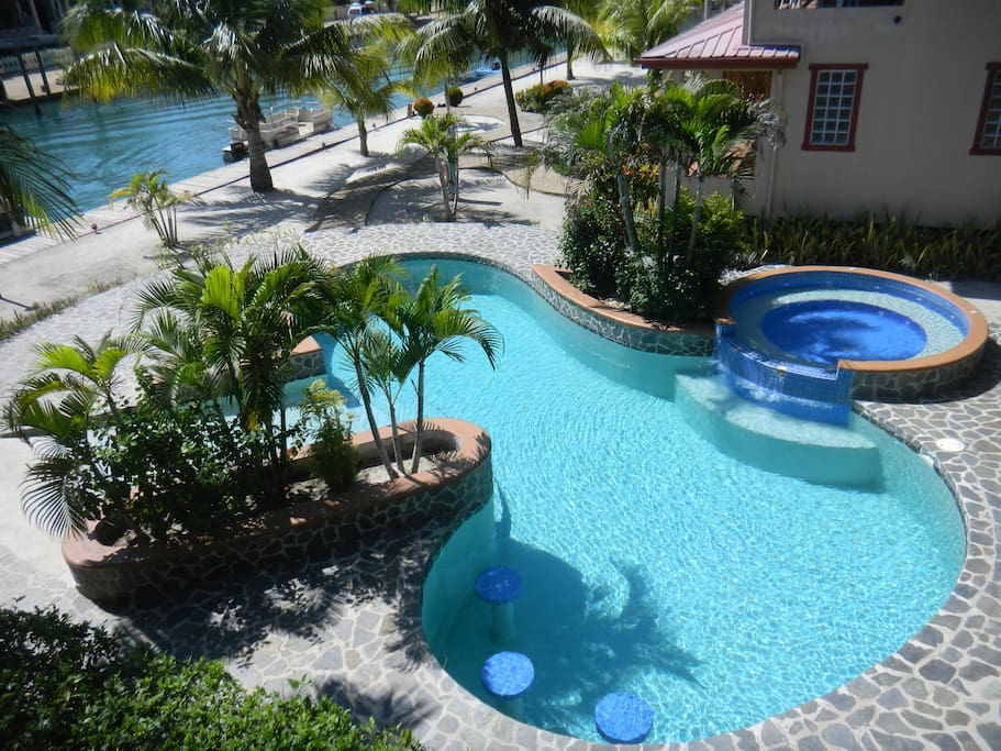 The pool from your balcony