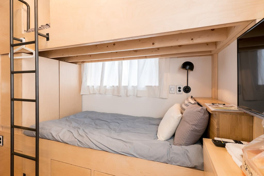 bunk bed with mordern interior